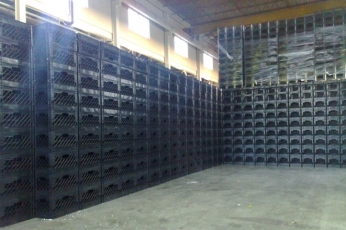 Milk crates warehouse